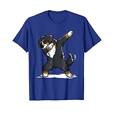 Mens Bernese Mountain Dog T-Shirt Dab Dance Gift Shirt Large Royal Blue