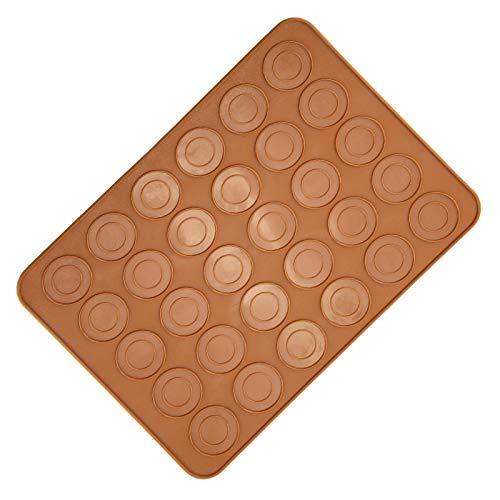 Alvinlite Macarons Mat 1 PCS 30 Agujeros Silicona Kit de Cocina para Hornear Forma Redonda Macaron Sheet Pad