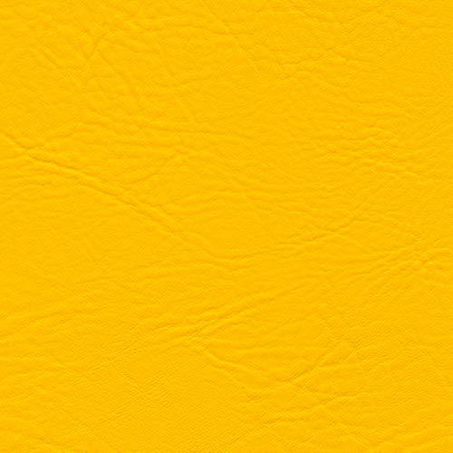 NEPTUNE Kunstleder PVC Lederimitat Meterware für Boote Automobil und Außenbereich (Amarillo gelb)