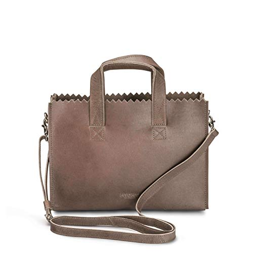 MYOMY DO GOODS MY PAPER BAG Mini Handbag Cross-body - Hunter Taupe - Damen Handtasche