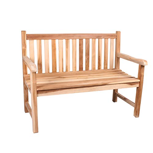 CHICREAT - 2-zits bank teak, tuinbank, teakbank ca. 100 cm breed