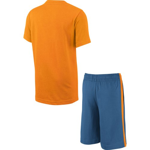 Nike Ms Knit Set (sstop + Short) LK – Sportkleidung für Kinder XL orange/Marineblau/weiß