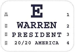 Vote Elizabeth Warren for President Water Bottle Sticker - Eye Chart 2.5 x 3 inch Campaign Vinyl Decal Label Die-Cut