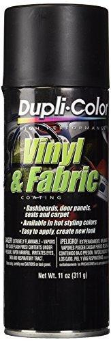 Dupli-Color HVP106 Flat Black High Performance Vinyl and Fabric Spray - 11 oz. - 6 Pack