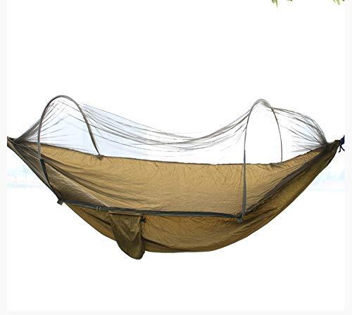 ZXL iuihuah hangmat schommel voor volwassenen wieg net muggennet familie netbed anti muggenhangmat 260 x 150 cm geel 260 x 150CM Geel
