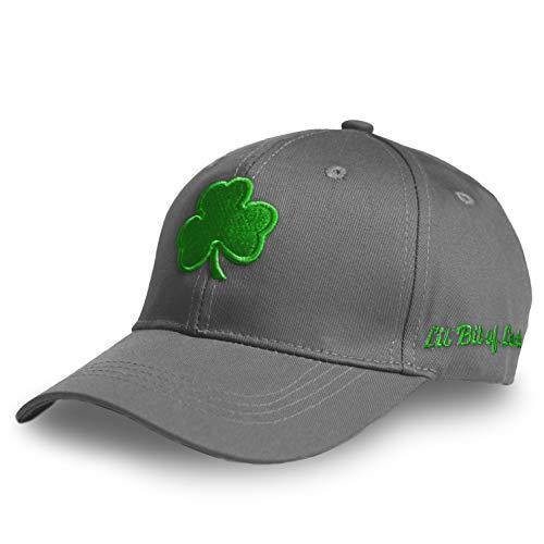 Atenia St Patricks Day Hat, Irish St Patricks Day Shamrock Accessories Baseball Cap for Men and Women (Grey)