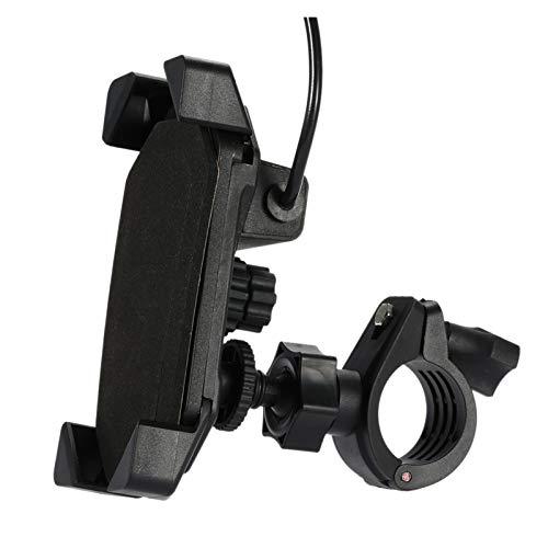 linger Soporte para el Soporte del teléfono del Manillar de la Motocicleta con el Cargador USB Que Apta para el teléfono Celular de 3.5-7 Pulgadas GPS