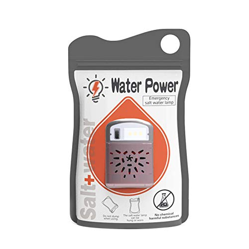 Adaskala Notsalzwasserlampe Umweltfreundliche Reiselampe Keine Batterien und Strom für Stromausfälle erforderlich Notfälle Aktivitäten im Freien