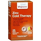 Walgreens Zinc Cold Therapy Quick Dissolving Tablets, Citrus, 25 ea by Walgreens