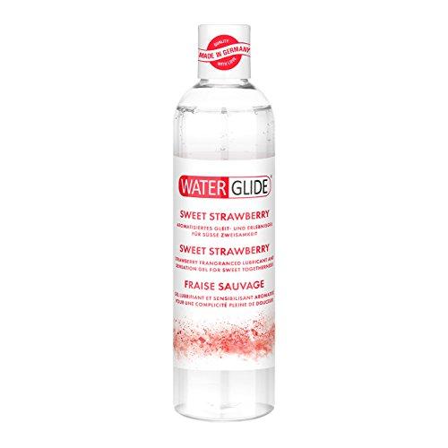 Gleitgel Waterglide, wasserbasierte Langzeitwirkung, Erdbeer-Aroma, 300 ml