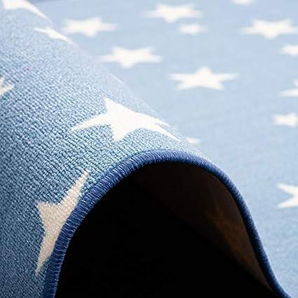 Motif Etoiles Bleu 4 Tailles Disponibles Snapstyle Tapis de Jeu pour Enfant