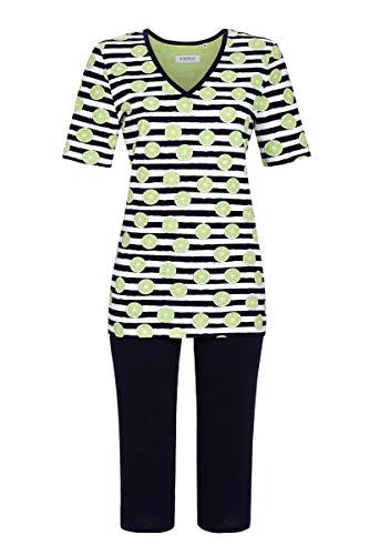 Ringella Damen Pyjama mit Caprihose Granny 46 1211203, Granny, 46