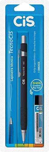 Lapiseira Técnica 0.5mm + Grafite, CiS, TecnoCis, 250.5001, Preto, 1 Unidade