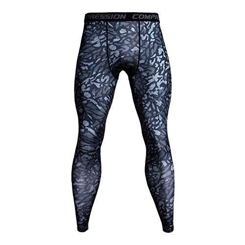 Sportuitrusting Hardlopen Voetbal Training Fitness Compressie Panty Broeken Voor Mannen, Grootte: M(Red Lightning)
