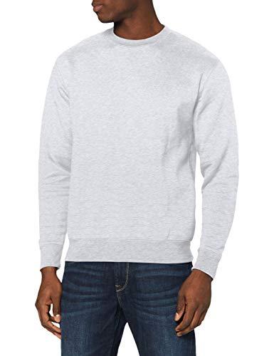 Fruit of the Loom Men's Set-In Premium Sweater, Heather Grey, Mediu