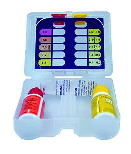 well2wellness® Pool Test Kit Chlor pH mit Pooltester und Flüssigreagenzien (024070)