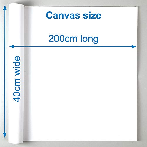 Baker Ross AR498 Blank Roll of 2 M Canvas Perfect for Painting and Artist Work, White