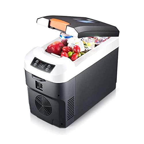 Fhdisfnsk Refrigerador Congelador Portátil, Mini Refrigerador para Automóvil con Tecnología de Enfriamiento de Doble Núcleo con Correa, para Uso Doméstico En El Automóvil DC 12 / 24v AC 220v