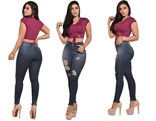 Calça jeans roupas femininas rasgada super skinny (38)