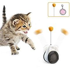 猫 おもちゃ 猫じゃらし タンブラー 玩具車 自動 ネコ おもちゃ 猫のおもちゃ ペットねこ おもちゃ ボ一ル 自動回転 一人遊び ストレス解消 運動不足 解消 知育玩具 安全素材 ホワイト