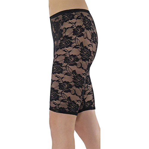 Smiffy's 80s Lace Cycle Short, Black, One Size