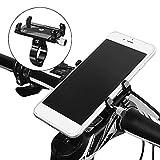 Soporte para Móvil Bici Anti Vibración, Soporte Móvil Moto Bicicleta Aluminio, Porta Teléfono Motocicleta Compatible con iPhone, Huawei, Samsung