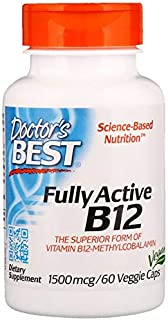 Doctors Best Best Fully Active B12, 60 vcaps 1500 mcg(Pack of 3)