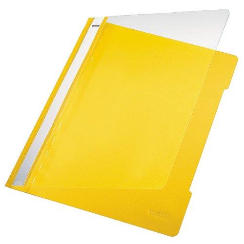 Leitz 41910015 Standard Hefter (A4, langes Beschriftungsfeld, PVC) gelb