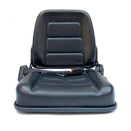 SUDEG Universal Gabelstaplersitz Verstellbarer mit Sicherheitsgurt, Sitz mit Vollfederung für Schweren Mechanischen Sitz Deluxe Utility Rasenmäher Sitzstapler, Kompaktlader, Bulldozer, Teleskoplader