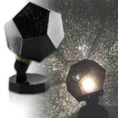 DIVISTAR Sternenhimmel-Lampe, Projektor mit Sternen-Motiv, romantisch, 3Lichtfarben: Blau, Weiß, Gelb