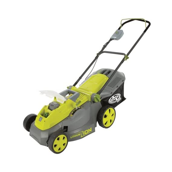 Sun Joe iON16LM 40-Volt 16-Inch Brushless Cordless Lawn Mower, Kit (w/4.0-Ah Battery + Quick Charger), ION16LM 2 For use with iBAT40 Series 40 V lithium-ion batteries and iCHRG40 and iCHRG40QC chargers - sold separately No pull cords, gas, oil, tune-ups, carbon emissions or tangled extension cords Powerful brushless motor increases battery efficiency, maximizes motor performance, decreases noise and vibration and extends motor life