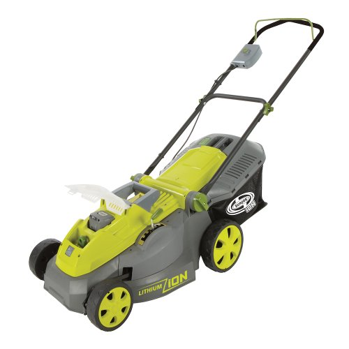 Sun Joe iON16LM 40-Volt 16-Inch Brushless Cordless Lawn Mower, w/4-Ah Battery + Quick Charger