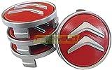 4pcs Coche eje de la rueda Tapas centrales para Citroen C3 C4 C5 C1 Elysee Berling Xsara Picasso Saxo Cactus DS3 DS4 DS6, a Prueba de Polvo Decorativa Accesorios De Estilo
