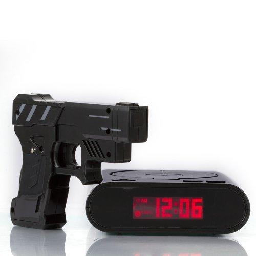 Althemax® Schießen Infrared Toy Gun Wecker Zieltafel Shooting-LCD-Bildschirm Toy Games Geschenke Black