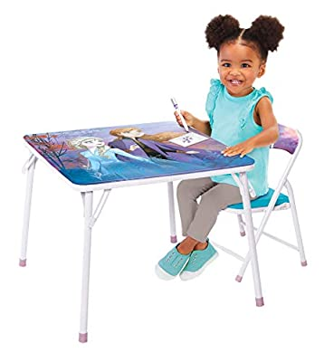 Disney Frozen 2 Jr. Activity Table Set with 1 Chair