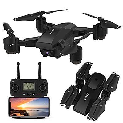 INKPOT GPS Drone JJRC H78G 5G WIFI FPV Rc Foldable Drone with 1080P HD Camera Live Video RC Quadcopter with Follow me ,Smart Return Home,Dual Control Mode Folding Drone for Adults (Black)