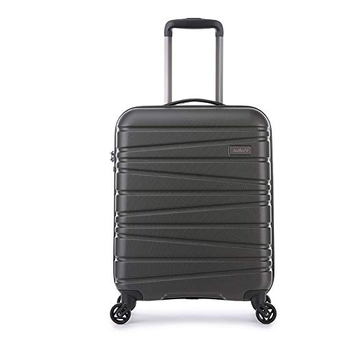 Antler Sonar Exclusive, Durable & Lightweight Hard Shell Suitcase - Colour: Charcoal, Size: Cabin