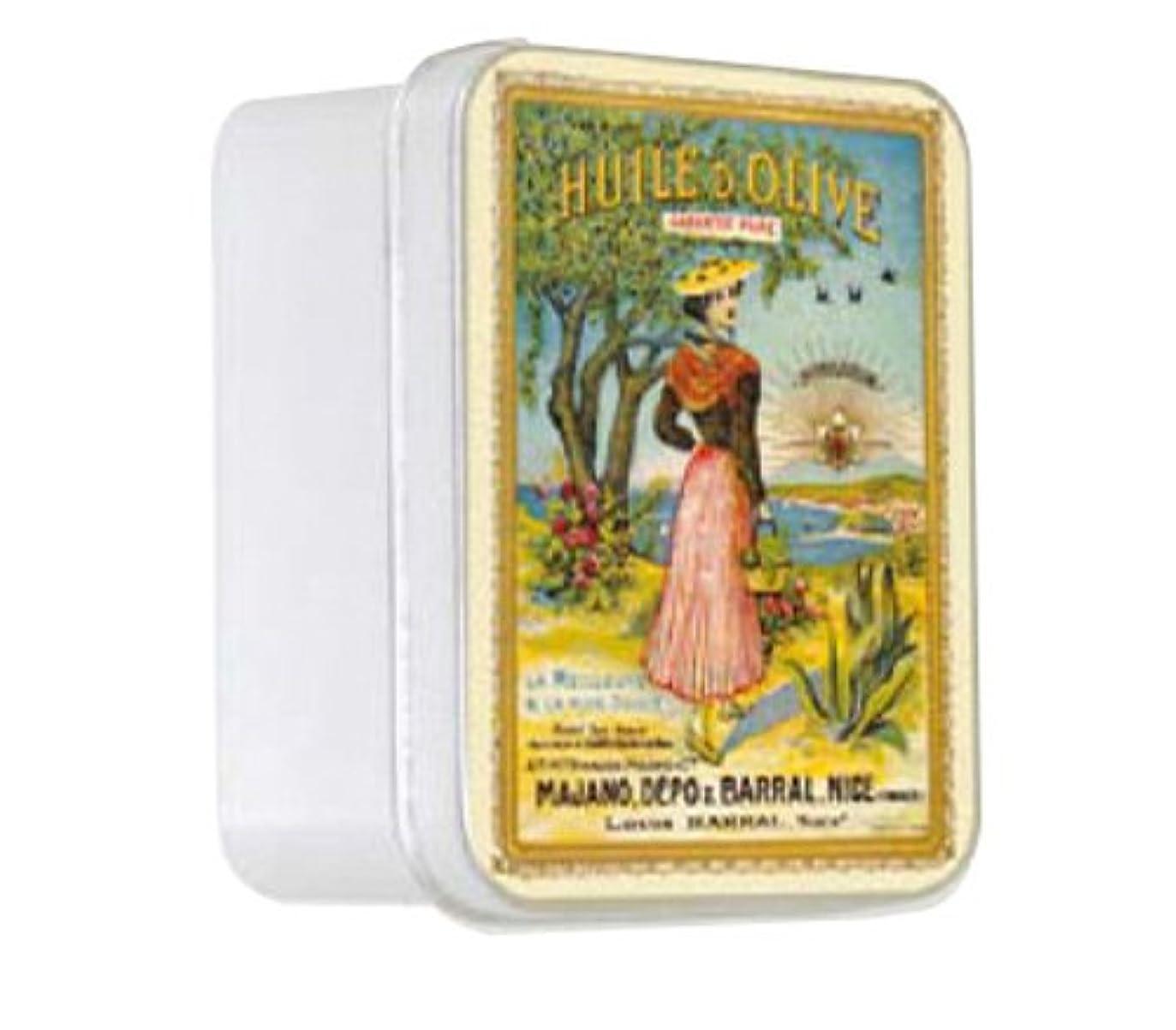 ロバインスタンス水平ルブランソープ メタルボックス(ラ ニソワーズ?オリーブの香り)石鹸