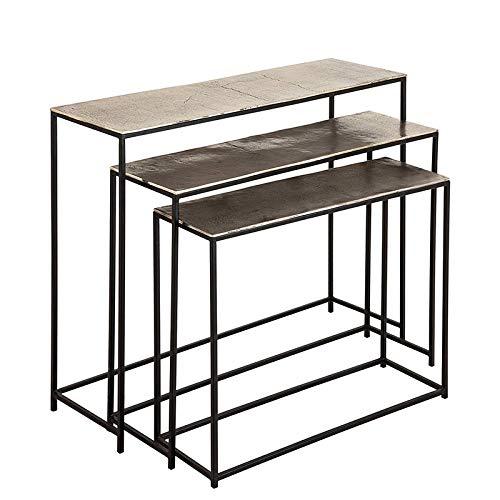 COTE TABLE Set de Trois Consoles Felia 99x29x82cm