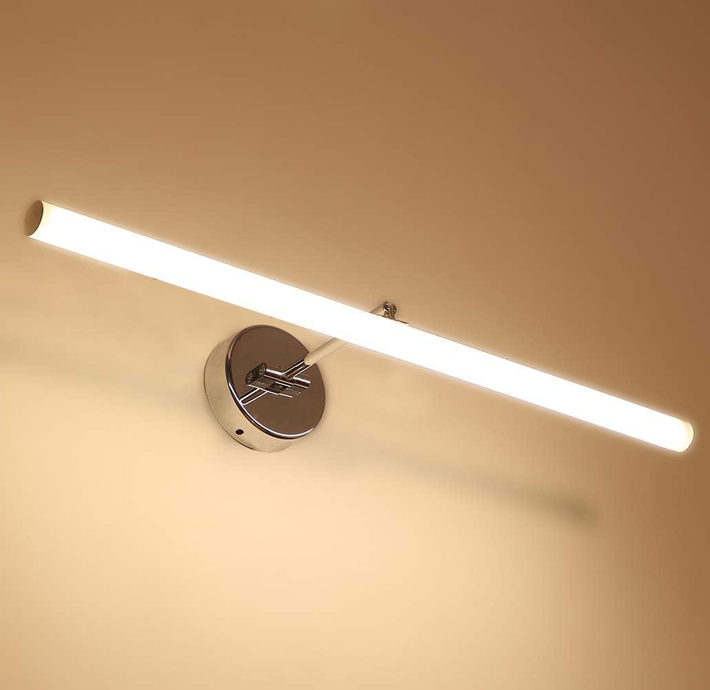 10W LED Spiegelleuchte Badleuchte - 50cm 4200K Natürliches Licht Edelstahl Spiegellampe für Badezimmer Schminklichte Schrankleuchte Warmes Weißes Licht(8w)