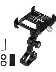 Carrfan Aluminum Bike Phone Holder 360 Degree Rotating Adjustable Anti Slip Cycling Bicycle Handlebar Phone Mount Holder Stand for MTB Road Bike Motorcycle