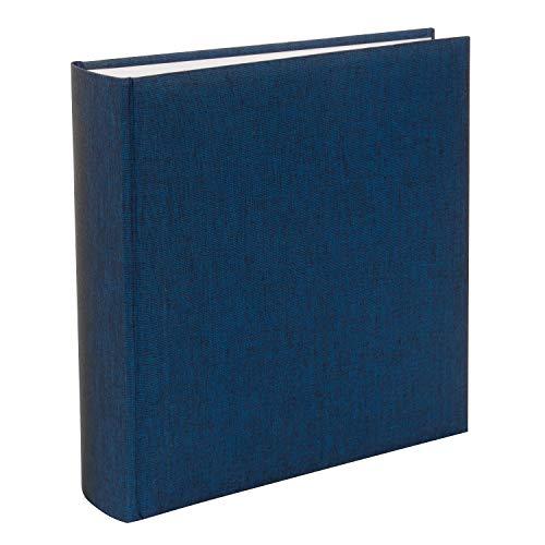 goldbuch 31708 Fotoalbum, Summertime, 30 x 31 cm, Fotobuch mit 100 weiße Seiten & Pergamin Trennblättern, Foto Album aus Leinen, Erinnerungsalbum, Blau