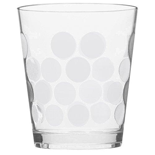 Zak Designs 1500-Q980 Set Cocktail Dot 5 pièces Blanc, Plastique, 45x35x25 cm
