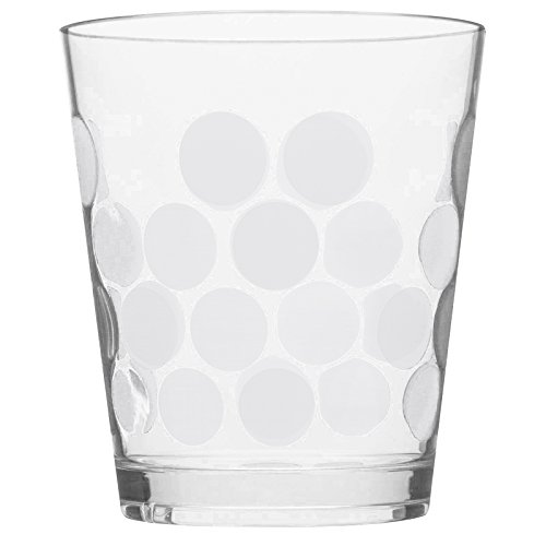 Zak Designs 1500-Q980 Set Cocktail Dot 5 pièces Blanc, Plastique, 45x35x25 cm
