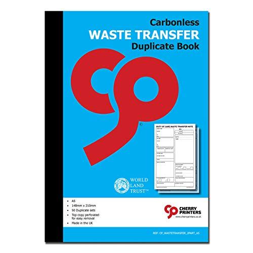 Cherry durchschreibendes Buch für Abfälle, selbstdurchschreibend, A5, 50 Sets