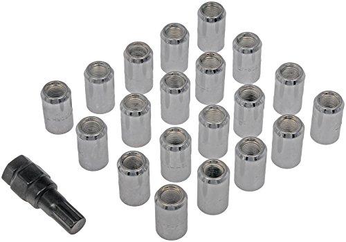Dorman 711-345 Tuner Wheel Lock Set M12-1.50 for Select Models - Chrome, 20 Pack