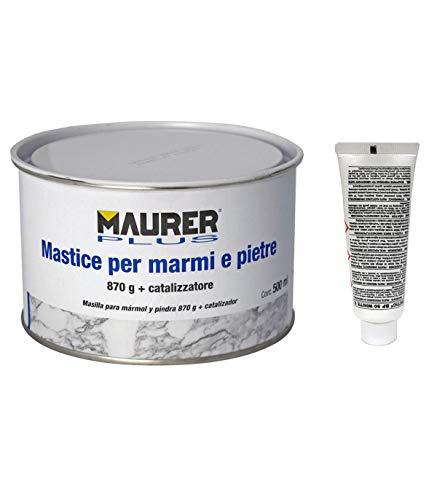 MAURER 14075010 Masilla Para Marmol 500 ml. con endurecedor