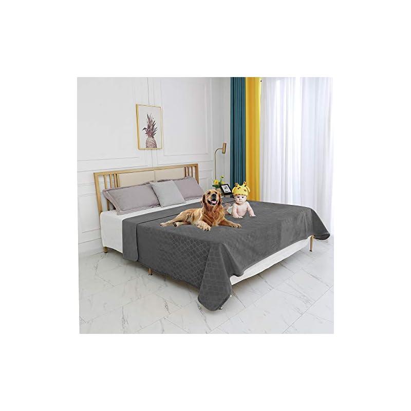 "dog supplies online fuguitex waterproof dog blanket bed cover dog crystal velvet fuzzy cozy plush pet blanket throw blanket for couch sofa(6880"",dark grey+dark grey"
