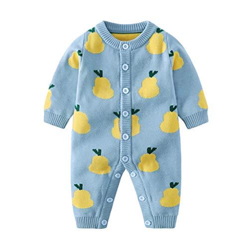 Bebe Combinaison,Kolylong Pyjama Combinaisons Bébé Garçons Filles Pull en Tricot Grenouillères Cartoon Imprimé Barboteuses
