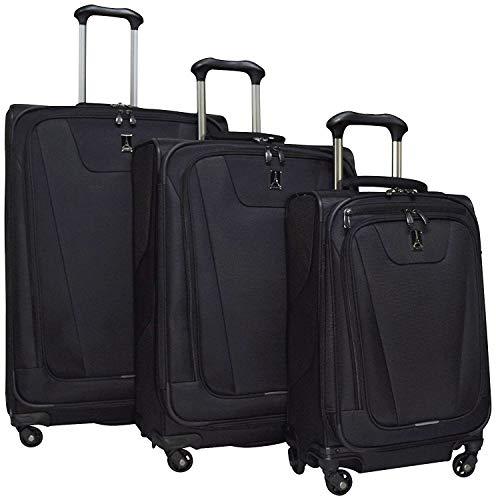 "Travelpro Maxlite 4 3 Piece Set: Expandable 29"" Spinner, Expandable 25"" Spinner and Expandable Carry-on Spinner, Black"